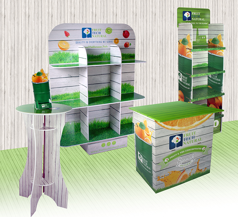 EXPOSITOR MESAS CARTON ABIPLEX TECH NATURAL