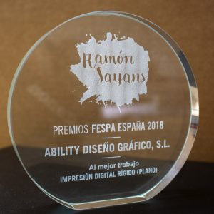 Premios FESPA España 2018 Ability diseño gráfico, S.L. al mejor trabajo de impresión digital (plano)